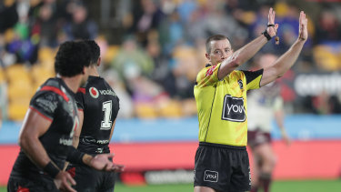 In the bin: The standard of officiating is putting punters off the game.