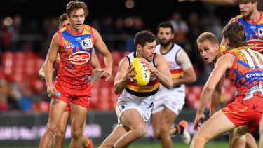 Luke Brown of the Crows was part of the dominant display against the Suns.