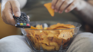 Staying home streaming TV and drinking alcohol did not help offset a massive drop in clothes, transport and cafe spending.