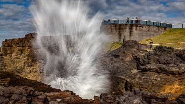 Kiama, home of the blowhole ... and now a few New Zealand Warriors players.