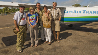 William Scott-Bloxam (centre) pictured in 2009 with other members of the 'Merauke five' (from left) Keith Mortimer, Karen Burke, Vera Scott-Bloxam and Hubert Hofer.