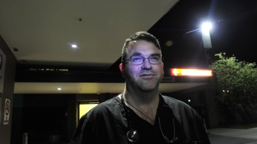 Dr David Caldicott, pictured outside Calvary Hospital, Canberra, where he works in the ED.