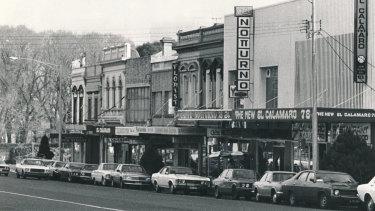 Lygon Street in 1979.