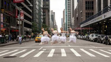 Lisa Tomasetti's Cygnets on 6th Avenue, 2012