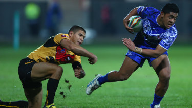 Anthony Milford playing for Samoa last year. He has also represented Queensland in State of Origin.