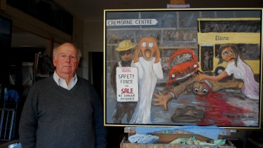 Cremorne resident Marshall Phillips has painted a mural to depict the chaos.