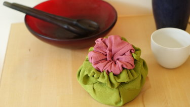 Furoshiki, the Japanese art of fabric wrapping, is a simple way to reduce your environmental footprint