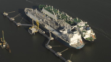 The proposed LNG import terminal would be berthed in Port Kembla's inner harbour.