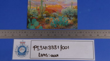 This blank postcard from Arizona was part of a bribes package sent to the Herald.