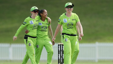 South African fast bowler Shabnim Ismail finished the Thunder's fielding innings with figures of 3-10, marking the third most economical four overs bowled for the side in WBBL history.