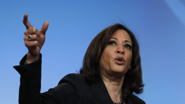 Senator Kamala Harris has seized on the abortion issue.