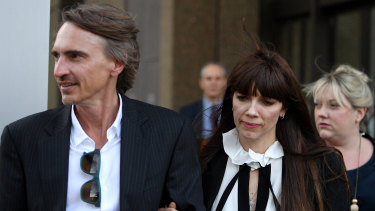 Australian author Kate Morton leaves the NSW Supreme Court.