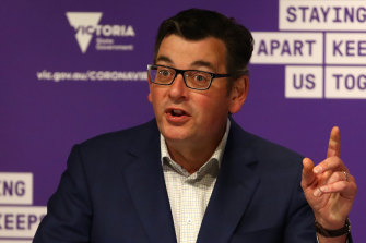 Victorian Premier Daniel Andrews speaks at a COVID-19 press conference on Wednesday.