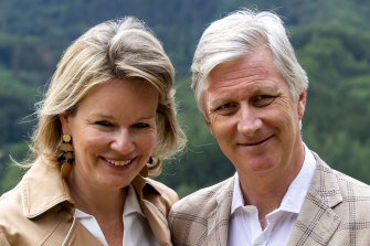Belgium's King Philippe and Queen Mathilde last week.