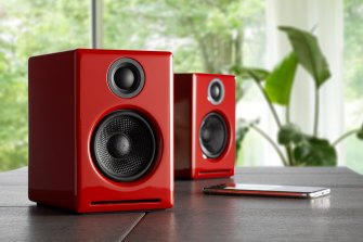 The speakers feature no protective grille.