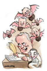 Malcolm Turnbull's book is heavily based on diaries he kept during his time in Parliament. Illustration: John Shakespeare