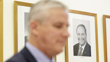 Nationals leader Michael McCormack is being stalked by Barnaby Joyce.
