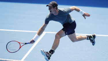 Murray struggled during the practice match.