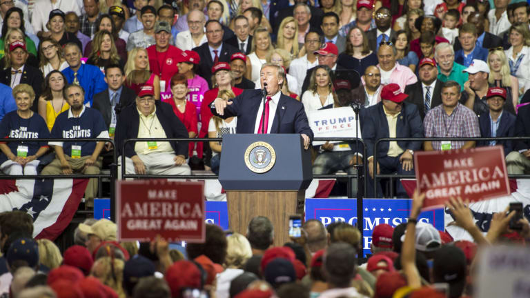 Some of Trump's opponents were quick to jump on comments he made at the Florida rally.
