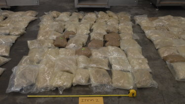 The MDMA was said to have a street value of almost $60 million.