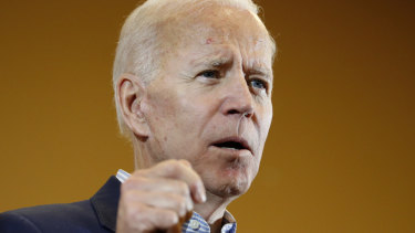 Democratic presidential candidate Joe Biden says he will find a middle ground on climate change policy.