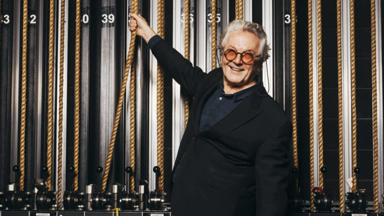 Philosophical: George Miller after speaking to students at NIDA this week.