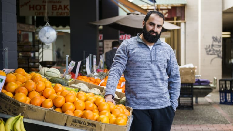 Terik Jabal from the Mawson Halal Market. He's worried about another supermarket moving into Mawson.