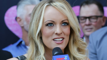 Porn star Stephanie Clifford, who uses the stage name Stormy Daniels.