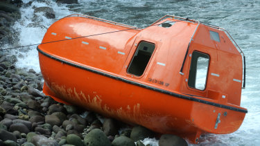 The orange lifeboats that Australia briefly used in 2015 to return asylum seekers to Indonesia.