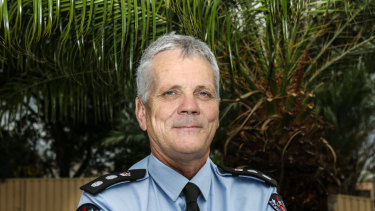 Fire and Rescue NSW deputy commissioner Malcolm Connellan was bitten three times by a black snake. Picture: GEORGIA MATTS
