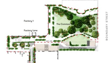Design plans submitted for the public areas at West Village as part of the council development application.