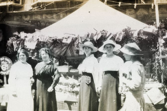 Women from Wagga Wagga, seen here in 1916, joined thousands across the nation to raise funds for the war effort.