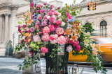Lewis Miller's 'guerrilla' floral installation in New York City