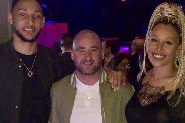 NBA star Ben Simmons, Sean Tribe and Olivia Simmons.