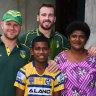 Parra-dise: Eels visit teammate Maika Sivo's village in Fiji