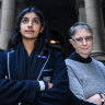 """Lead claimant Anjali Sharma,16, and  Sister Brigid Arthur, who is acting as the group's """"litigation guardian"""" because they are under 18."""