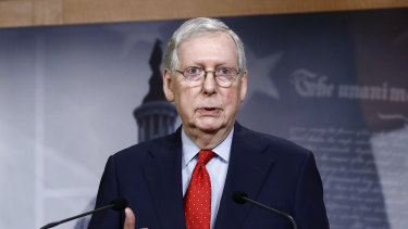 US Senate majority leader Mitch McConnell said the election would go ahead as planned on November 3.
