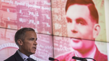 Mark Carney, governor of the Bank of England, announces scientist Alan Turing will be displayed on the new 50 pound note.