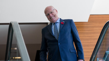 Jim Molan after his successful bid for the Senate vacancy in Sydney on Sunday.
