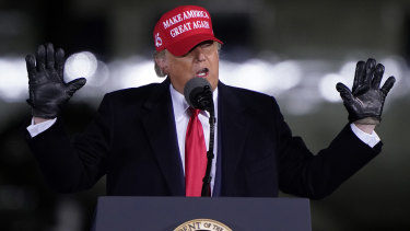 Donald Trump campaigning in North Carolina on Monday AEDT.