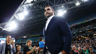 Taking a stand: Greg Inglis has fought racism before.