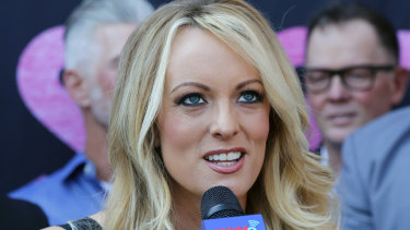 Trump's nemesis: porn star Stephanie Clifford, who uses the stage name Stormy Daniels.