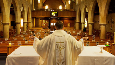 With pews empty across the country, hundreds of priests have been put on the JobKeeper payment.