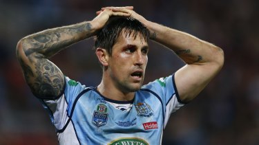 Mitchell Pearce was a regular punching bag for success-starved NSW fans.