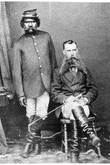 Tracker Sir Watkin with sub-inspector Wright.