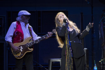 John McVie and Stevie Nicks during Fleetwood Mac's Sydney show last year.