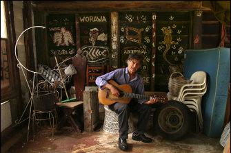The late Sebastian Jorgensen in 2005 in the Christmas Hills barn.