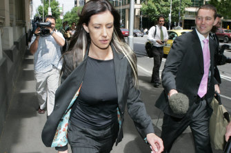 Zarah Garde-Wilson outside court following her conviction for contempt of court in 2005.
