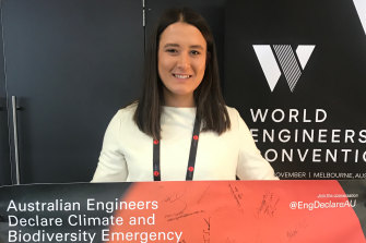 Averil Astall at the World Engineers Convention last week in Melbourne.