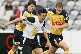 Naoki Imaya during his brief time with the now-defunct New Zealand Knights back in 2006.